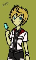 Roxas lineart colored by PercabethForever33