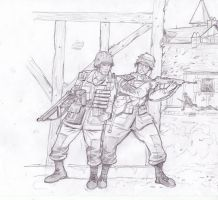 US soldiers by Bidass