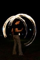 Fire Poi Spinning by Foxseye