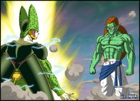-DBM- Cell VS Bojack by DBZwarrior