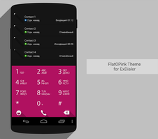 ExDialer Theme FlatOPink by Karsakoff