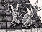 Hopkinsville Goblins-- Kentucky cryptid by NocturnalSea