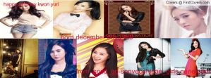 happy birthday kwon yuri facebook cover 2 by alisonporter1994