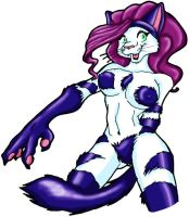 Alternate color anthro felicia by Lyenuv