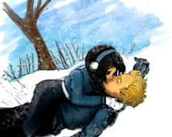 Katniss and Peeta melting Snow by BloodyWoman