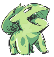 Bulbasaur doodle #2 (Yellow's colors) by Furreon