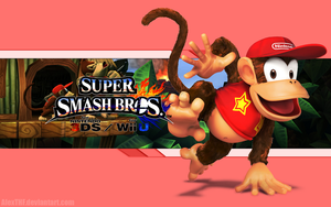 Diddy Kong Wallpaper - Super Smash Bros. Wii U/3DS by AlexTHF