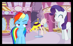 Rainbow Dash is Unamused by Sazlo