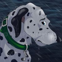 Commission for Mixer (2/4) - Sad icon by AniuProserpina