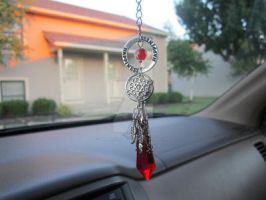 Dreamcatcher Crystal Rear View Mirror Charm by MammaShaClothing