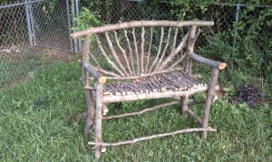 Homemade rustic bench by Lioness123