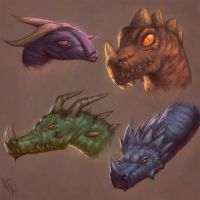 Dragon Heads 3 Day #24 by AngelGanev