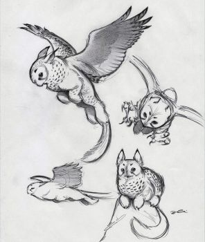 And Yet More Owl Griffin by RobtheDoodler
