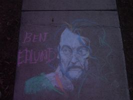 GISHWHES: Edlund in chalk by TanTanTanuki