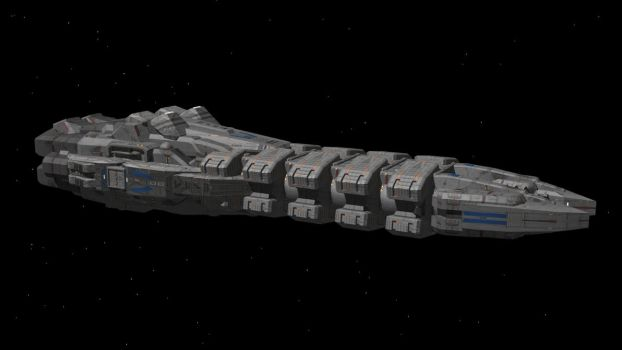 BUSF Collision of Righteousness-Class Cruiser by NSSunset