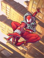 Scarlet Spider color by Fpeniche