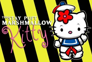 Stay Puft Marshmallow Kitty by laneamania