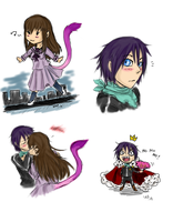 Noragami doodles by SilverRacoon