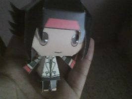 Chibi Domon Kasshu papercraft by daigospencer