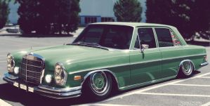 Stanced Mercedes-Benz W108 by Sk1zzo