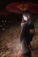 night walks in kimono by RINrumiKA