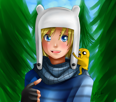 Finn and Jake by Nasuki100
