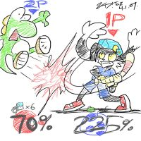 Klonoa in Super Smash Bros Wii by kd99