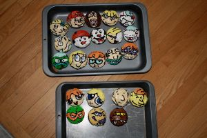 Childhood 90s Cartoon Cupcakes by Alex-Plalex