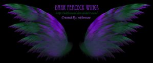 Dark Peacock Colored Fractal Wings by mkbrouse