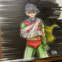 DC 52 Weekly Sketch - Robin (Grayson) by PhillipQHudson