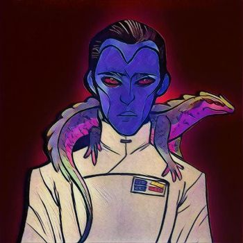 Red: grand admiral Thrawn by SlytherinLera
