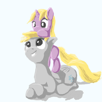 Derpy and Dinky by odooee