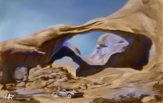 Marty McFly... Oh, no, just a canyon by Ultrarender