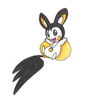 Sora the Emolga Redrawn by dragovian15