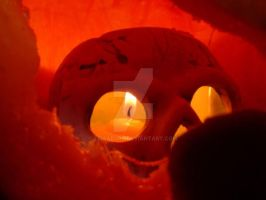 The Skull inside the Pumpkin by Lissaburd