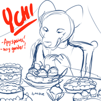 Dessert Collab YCH closed by KingNeroche