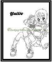 Yuffie Lineart by TheSpyWhoLuvedMe