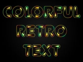 Color retro text by Player-Designer