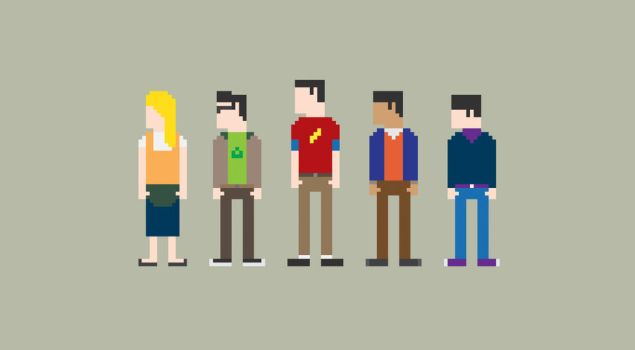 The Big Bang Theory 8-Bit by Al-Pennyworth