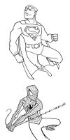 Superhero Coloring Designs by piotrov