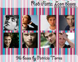 Rob Pattinson Icon Bases by darviana