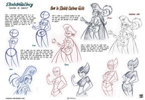 How to sketch Cartoon Girl by celaoxxx
