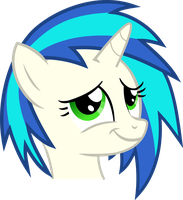 Vinyl Scratch - Proud moment (green eyes) by namelesshero2222