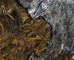 Dreamtime - Ceramic Discus 7 Detail by ArtGenEeRing
