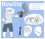 Gemsona: Howlite by JKSketchy