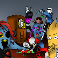 Draw the squad like this meme Undertale edition by Ambersuperfun03