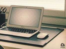 3 Macbook Air mockups by freebiespsd