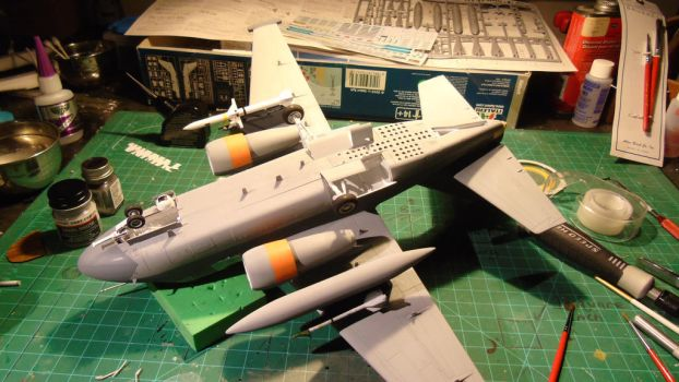 1/48 Scale S-3GC Viking Progress (underbelly) by Coffeebean2