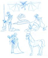 Some Princess Bride Sketches by borogove13