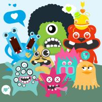 Love monster character design by Lemongraphic